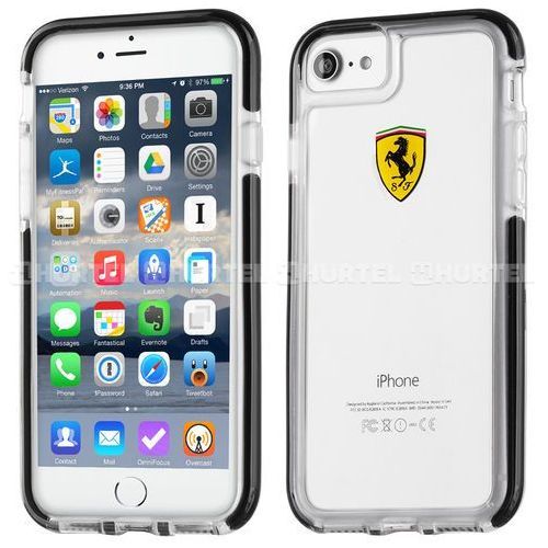 Ferrari Etui Hard do iPhone 7 (FEGLHCP7BK) Darmowy odbiór w 20 miastach!, kolor Ferrari