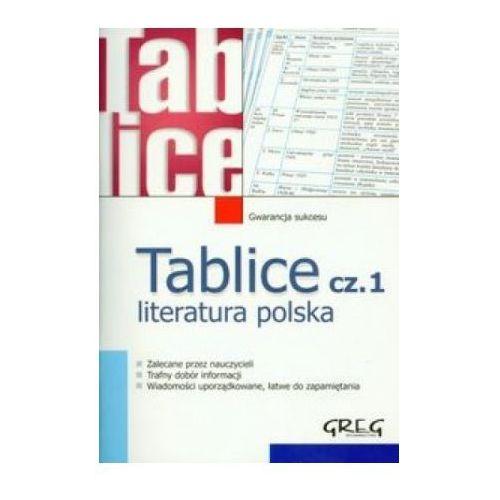 TABLICE LITERATURA POLSKA CZ.1, GREG