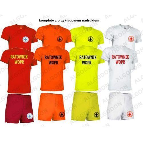 Komplet T-shirt koszulka oddychająca i spodenki RATOWNIK WOPR xxl pomaranczowy-fluo, 1 rozmiar