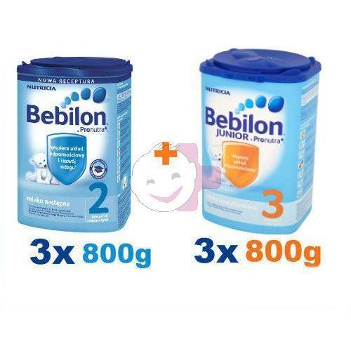 Bebilon 2 3x800g + Bebilon 3 3x800g ZESTAW (mleko dla dzieci)
