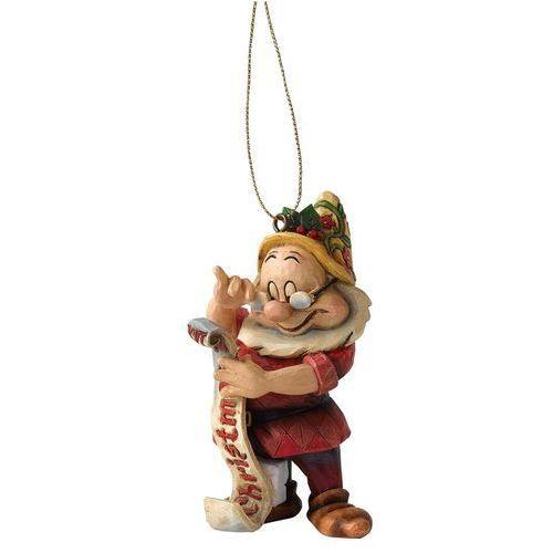 Jim shore Krasnoludek mędrek zawieszka, bajki disneya śnieżka i krasnoludki a9040 figurka dekoracja pokój dziecięcy choinka