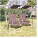 Huśtawka ogrodowa z dwoma miejscami i zadaszeniem - oferta [0516d64ae37f34dc]