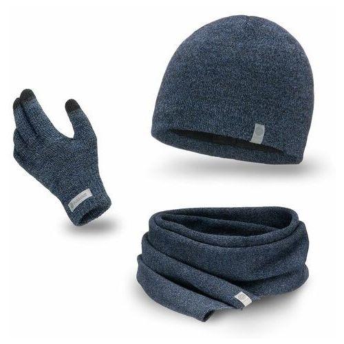 Komplet męski - czapka, szalik, rękawiczki marki Pamami