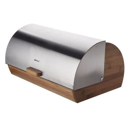 Kinghoff chlebak drewniany ze stalową pokrywą marki King hoff