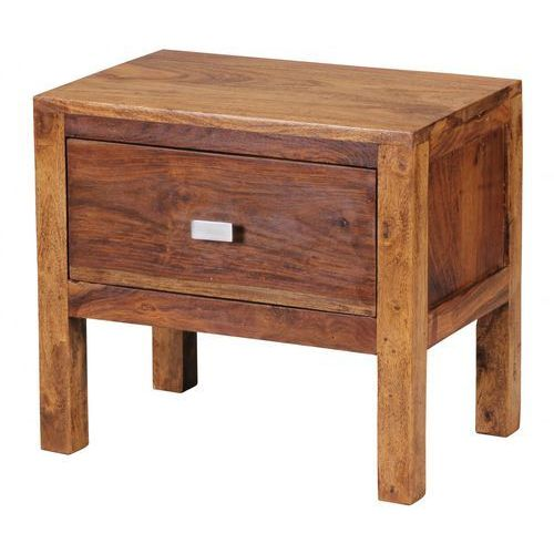 Machina Meble Lagos Stolik Nocny Lite Drewno Sheesham 45 x 30 x 40 cm - WL1-369 - produkt dostępny w sfmeble.pl