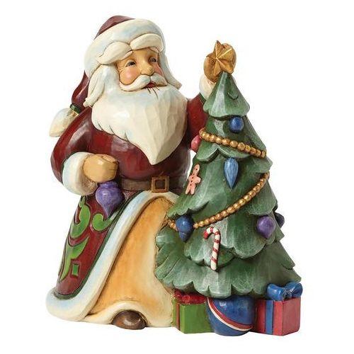 Mikołaj z Choinką, (Trimmed In Tradiotion), 4044069 Jim Shore figurka ozdoba świąteczna