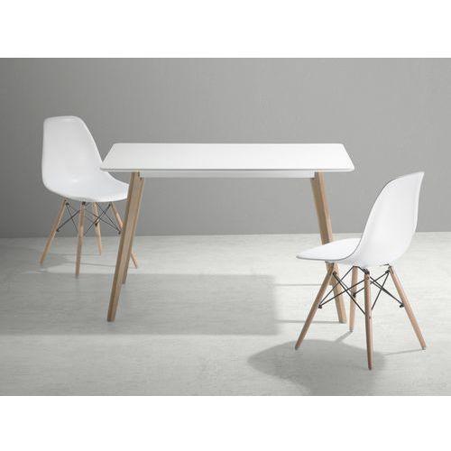 Stól do kuchni, jadalni lub salonu - bialy - 120x80 cm - FLY (stół do kuchni i jadalni)