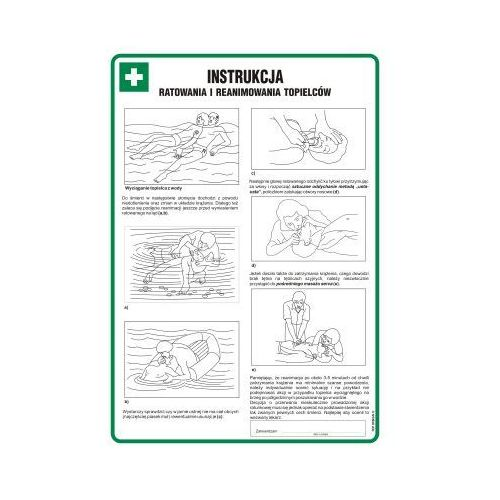 Instrukcja ratowania i reanimowania topielców marki Top-design
