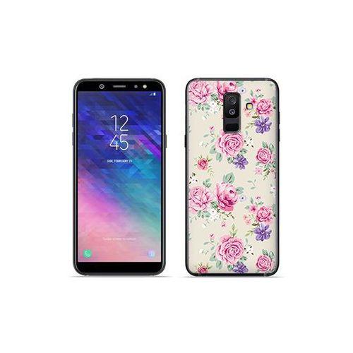 Samsung galaxy a6 plus (2018) - etui na telefon fantastic case - pastelowe różyczki marki Etuo fantastic case