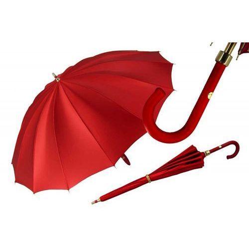 Im, parasolka damska 9-920a, czerwień i zloto, , długa marki Il marchesato
