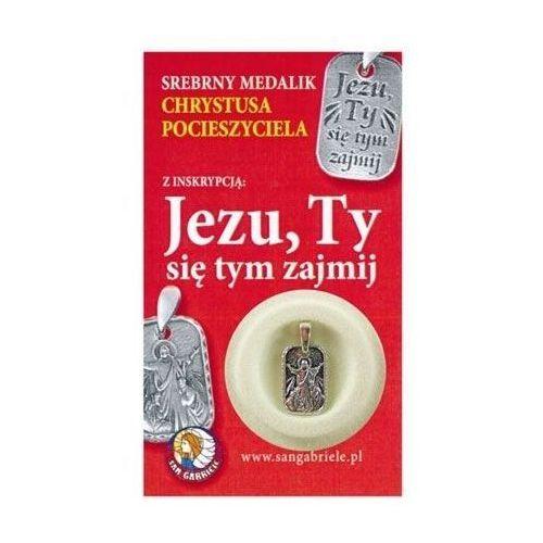 Srebrny medalik Chrystusa Pocieszyciela z inskrypcją