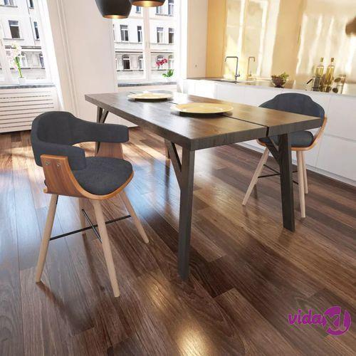 Vidaxl krzesła do jadalni drewno+materiał