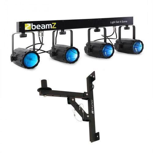 Zestaw efektów świetlnych LED Beamz Light Set 4-Some 5-częściowy z uchwytem ściennym