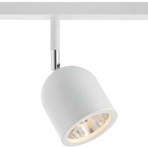 Sufitowa lampa plafon spark 50783301 regulowana oprawa metalowe reflektorki półokrągłe na listwie białe marki Kaspa