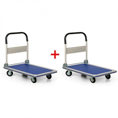 Składany wózek platformowy, nośność 300 kg, 1+1 GRATIS