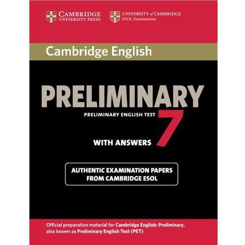 Cambridge English Preliminary 7 Authentic examination papers with answers (9781107675193)