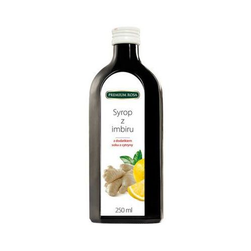 Premium rosa 250ml imbir syrop z dodatkiem cytryny o niższej zawartości cukru