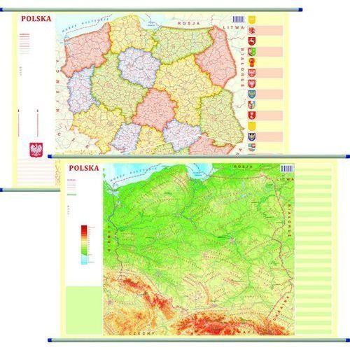 Polska mapa ścienna dwustronna fizyczno-administracyjna 1:1 800 000 - Praca zbiorowa