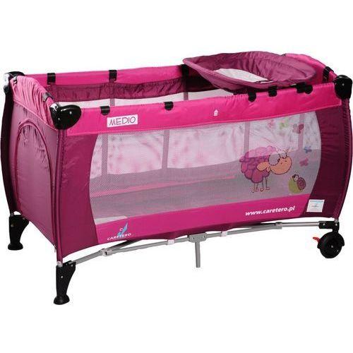 Łóżeczko turystyczne CARETERO Medio Classic różowy - produkt z kategorii- łóżeczka turystyczne