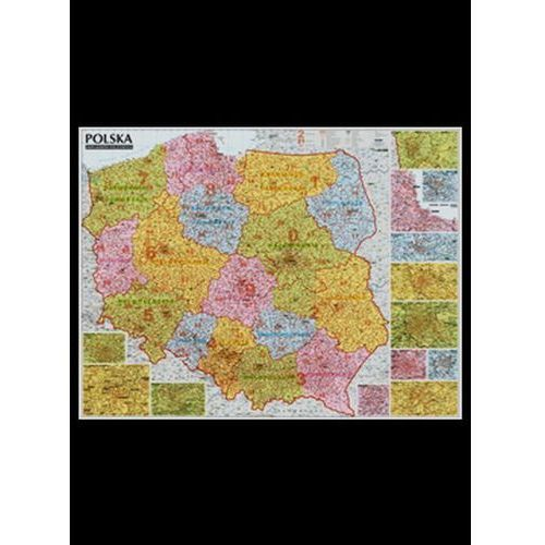 Polska 1:685 000. Mapa ścienna. Kody pocztowe. Wyd. 2014, Expressmap