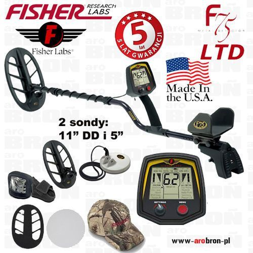 Wykrywacz metali fisher f75 ltd cewki: 11