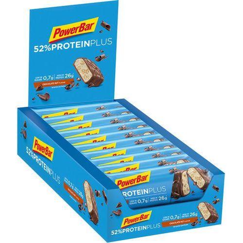 Powerbar proteinplus 52% bar box 20x50g, chocolate nuts 2019 zestawy i multipaki (4029679997318)