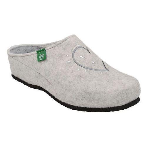 Kapcie 330149-81 beżowe pantofle domowe ciapy zdrowotne - beżowy   offwhite, Dr brinkmann