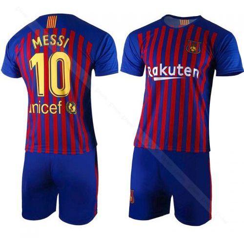 Messi - barcelona - komplet piłkarski 2018/19 - koszulka + spodenki bs sport marki Fabrik