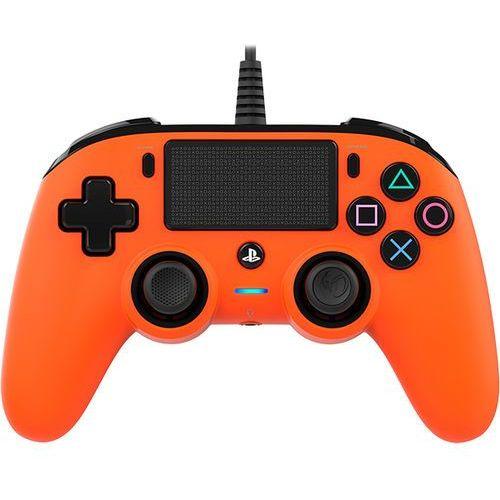 Kontroler BIG BEN Nacon Compact Controller Pomarańczowy do PS4 (3499550360745)