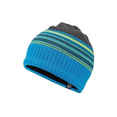Czapka przejściowa Marmot boy's Striper Hat szary/ niebieski/ żółte paski