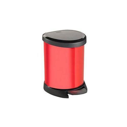 Kosz na śmieci Curver Decobin 02160-693 Czarny/Czerwony - produkt dostępny w EUKASA.pl