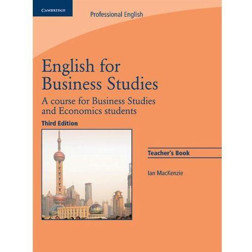 English For Business Studies. 3th Edition. Książka Nauczyciela (126 str.)