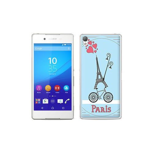etuo Fantastic Case - Sony Xperia Z3+ - etui na telefon Fantastic Case - wieża eiffla i rower, ETSN197FNTCFC110000