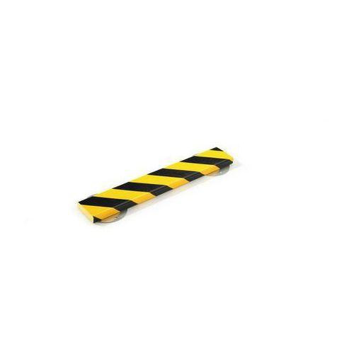 Profil ostrzegawczy i ochronny knuffi®,typ s, dł. 500 mm, przekrój: prostokątny, duży marki Shg pur-profile