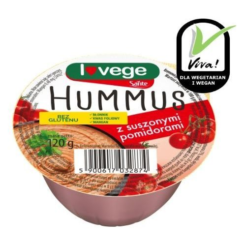 Hummus z suszonymi pomidorami 120g marki Sante