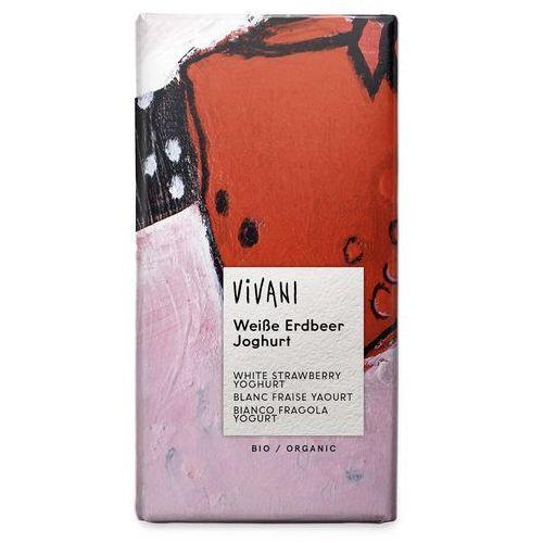 Czekolada biała truskawkowo - jogurtowa bio 100g - marki Vivani