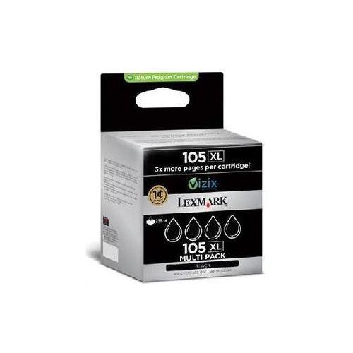 Lexmark 4 x tusz Black 105XL, 14N0845, 14N0845