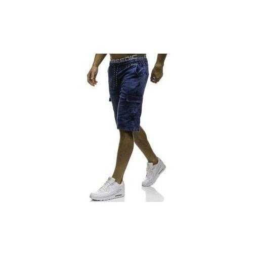 Krótkie spodenki jeansowe męskie granatowe denley hy191 marki Red fireball