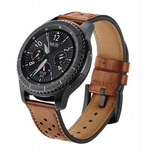 Pasek TECH-PROTECT Leather do Samsung GEAR S3 Brązowy, 4U10371