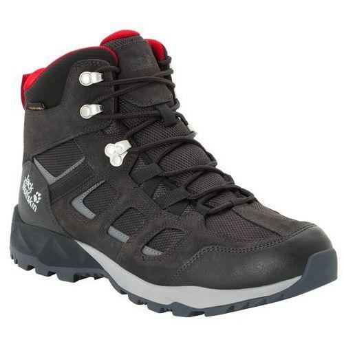 Męskie buty trekkingowe VOJO HIKE XT TEXAPORE MID M phantom / red - 8,5 (4060477343570)
