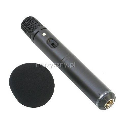 Rode M3 mikrofon pojemnościowy, opcja zasilania bateryjnego, charakterystyka kardioidalna, w zestawie pokrowiec i osłona przeciwwietrzna