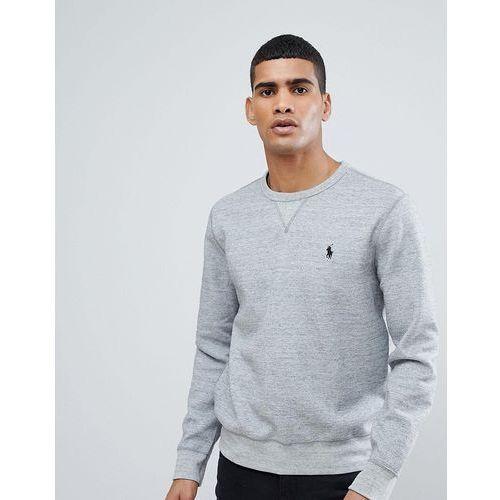 Polo Ralph Lauren Crew Neck Sweatshirt with Polo Player Logo in Grey Marl - Grey