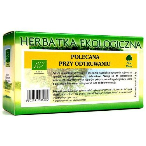 Dary natury Herbata polecana przy odtruwaniu bio 20 x 2g -