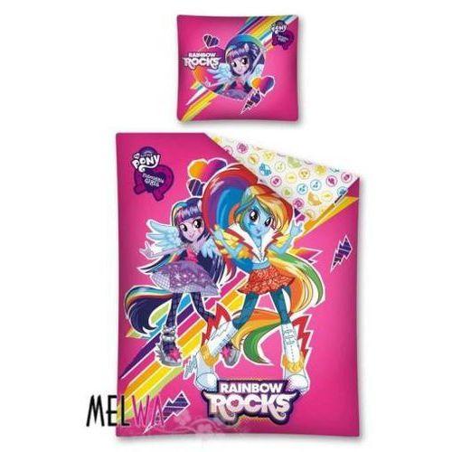 Komplet pościeli licencyjnej dla dzieci Pony Rainbow Rocks 160/200, Detexpol