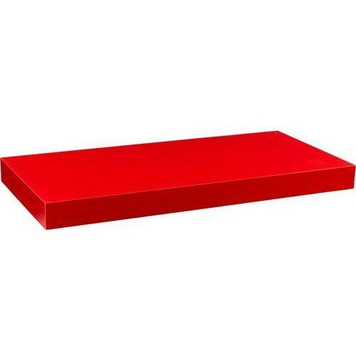 Stilista ® Czerwona półka naścienna wisząca volato 90 cm - 90 cm