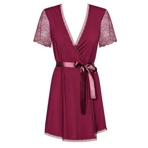 Obsessive Seksowny szlafroczek – miamor robe & thong black xxl (5901688209769)