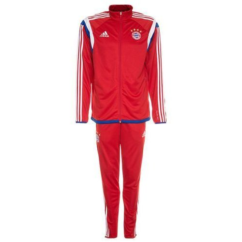 adidas Performance FC BAYERN MÜNCHEN TRAINING SUIT Dres true red/white - produkt z kategorii- dresy męskie komplety