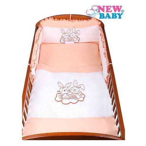 2-częściowy zestaw pościeli do łóżeczka New Baby Bunnies 100/135 pomarańczowy