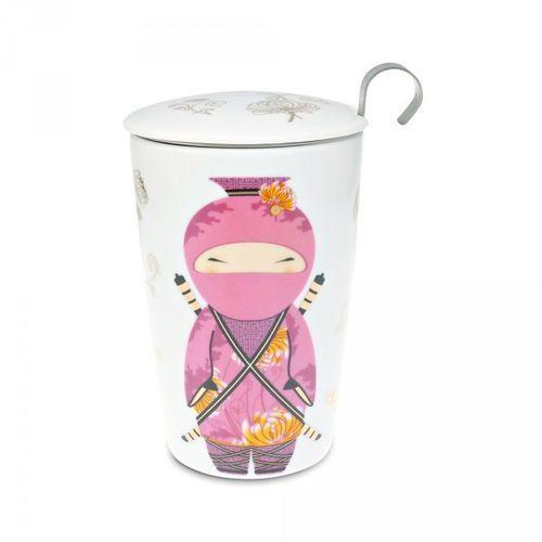 Eigenart kubek z zaparzaczem TeaEve Little Ninja Rose 350 ml (4260082931609)