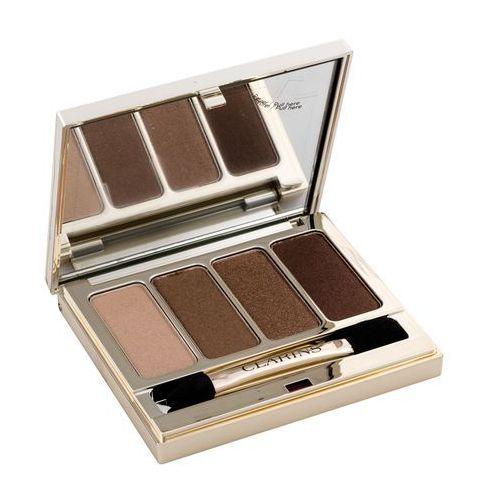 Clarins eye make-up 4 colour eyeshadow palette paleta cieni do powiek odcień 03 brown 6,9 g (3380810060492)
